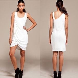 Helmut Lang Relic Side Twist Dress in Soft White